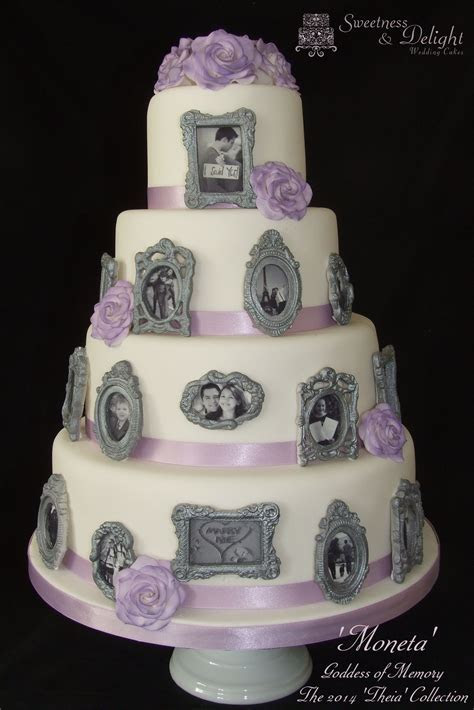 Edible photo frame wedding cake. All of this cake is