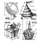 Tim Holtz Birthday Blueprint CMS153