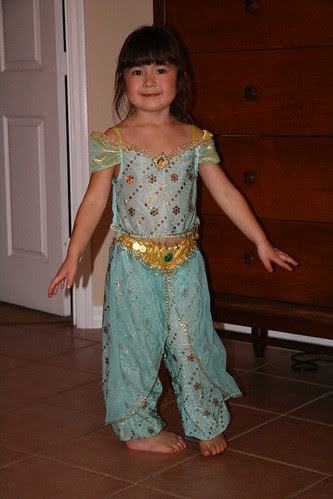 Dova spins in her Jasmine costume