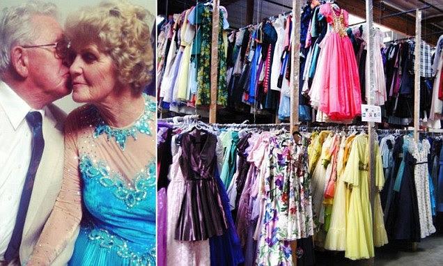'I wanted her to have a different dress for every dance': Man gives his wife 55 THOUSAND dresses in 56 years