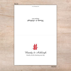 Double Happiness Wedding Thank you Card   Little Flamingo