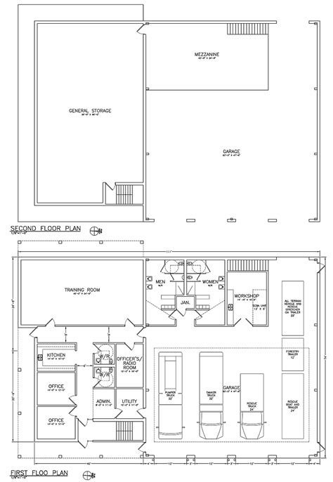 Pin by Garrett on Fire station | Fire hall, Building map
