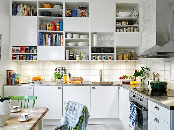 căn bếp nhỏ hẹp