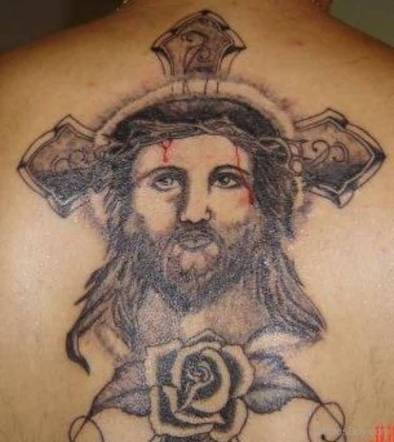 Jesus Face Tattoo On Back Tattoo Designs Tattoo Pictures