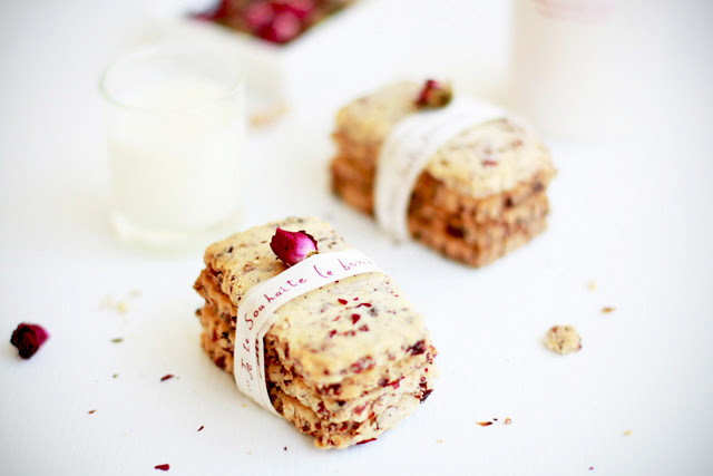 Cranberry Rose Cookies