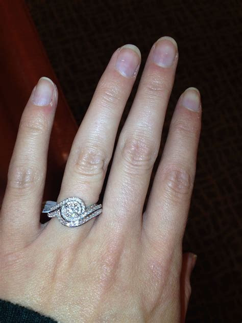 My beautiful Tolkowsky engagement ring with matching band