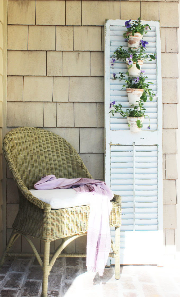 Tuscan Shutter Garden - Simple Nature Decor