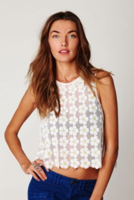 Free People FP New Romantics Daisy Sequin Tank