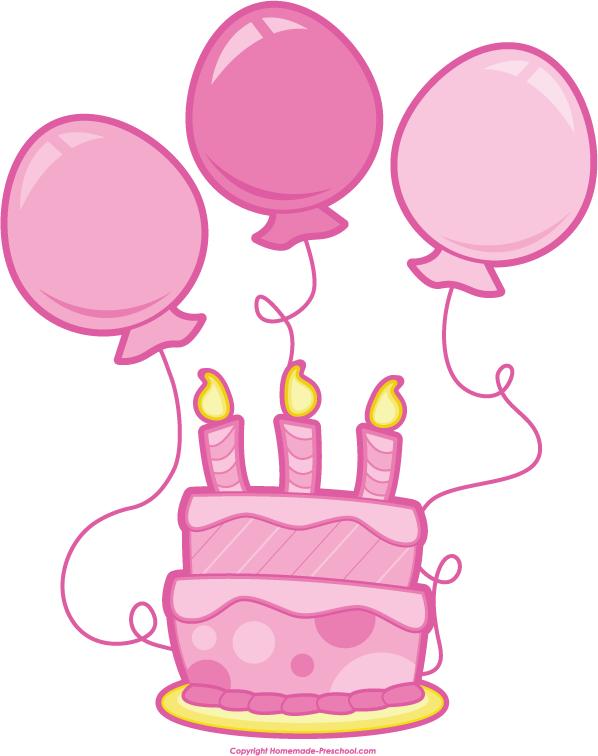 Birthday Cake Clipart Pink