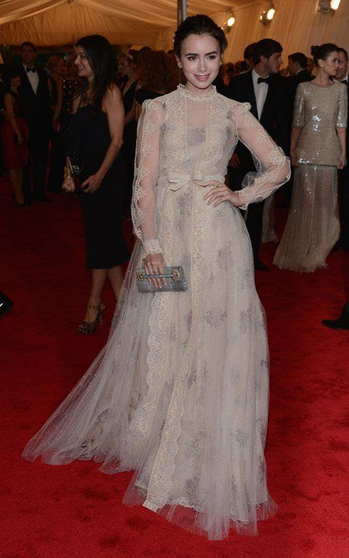 Costume Institute Gala Met Ball - May 7, 2012, Lily Collins