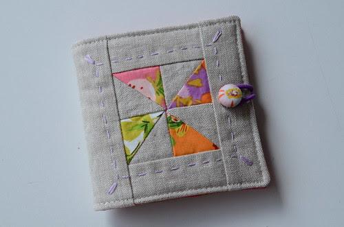 pinwheel needlebook by Poppyprint