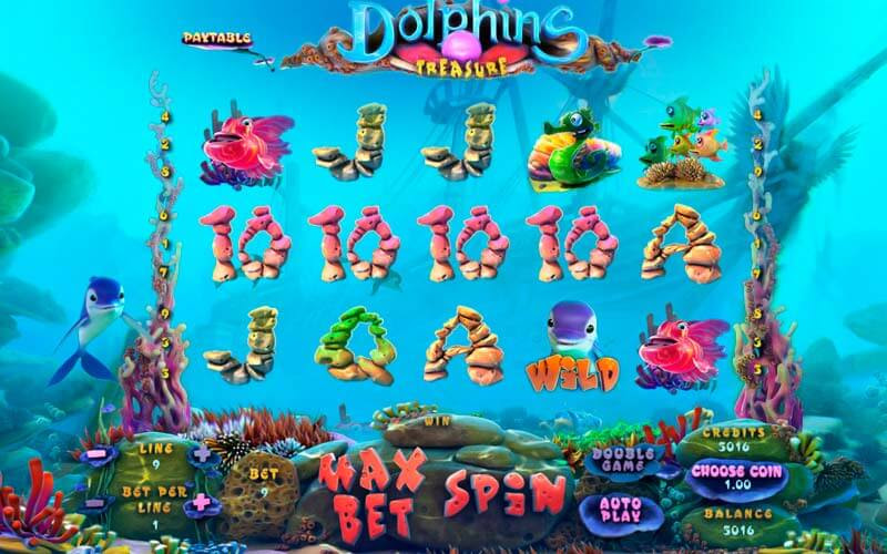 Dolphin treasure игровой автомат руб