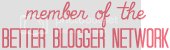 member of better blogger network