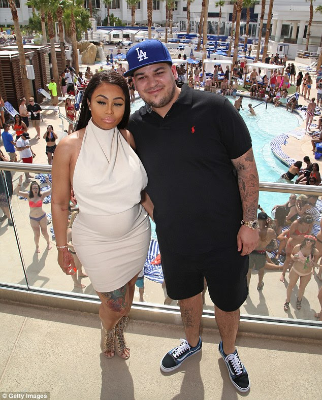 Nice pool: Rob and Chyna stayed clear of the pool at this poolside party