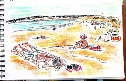 On the beach, Peniche