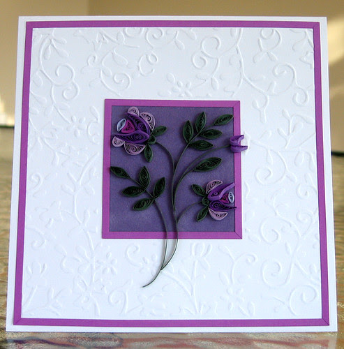 Quilled lavender card