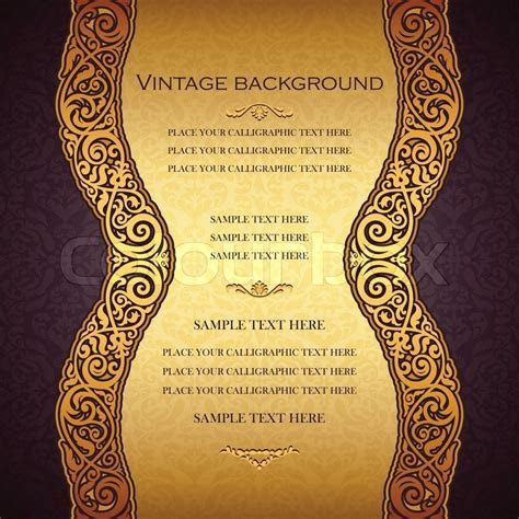 Vintage gold background, antique, victorian, golden