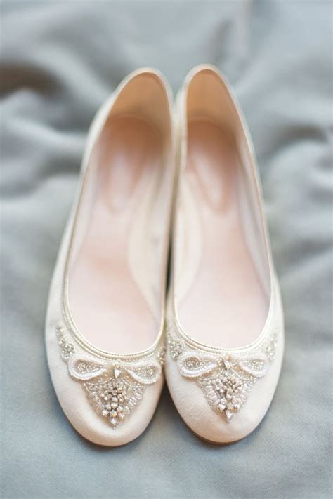 Beautiful Bridal Flats from Emmy London   Chic Vintage