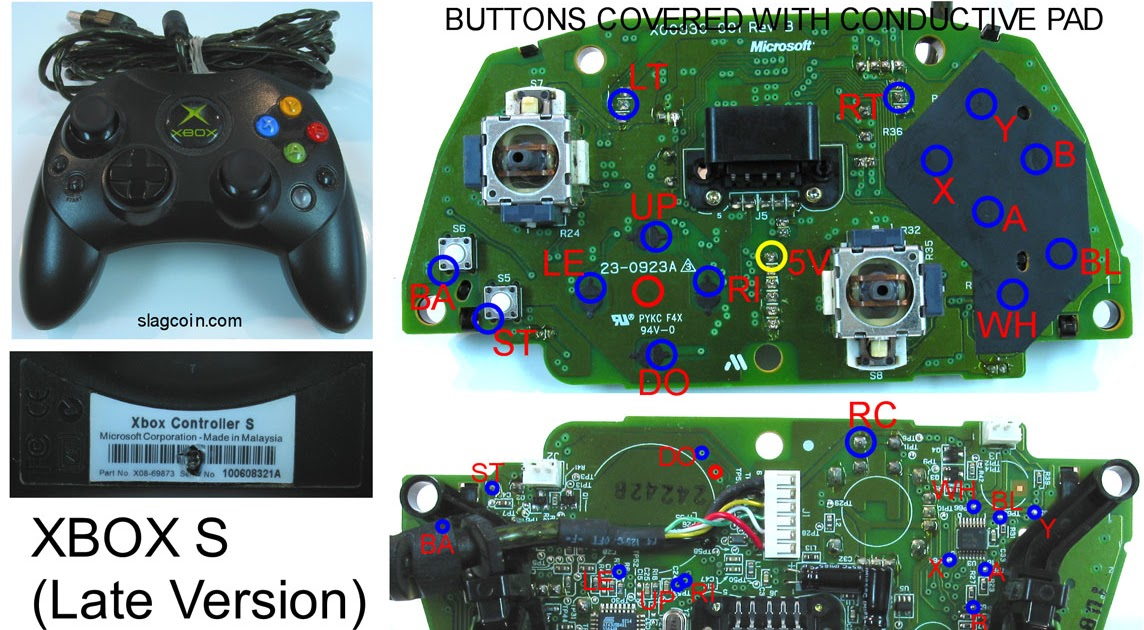 [NRIO_4796]   Gaming, Gadgets, and Mods: Xbox 360 and Original Xbox controller PCB  diagrams - for mods or making your own joystick | Original Xbox Controller Wiring Diagram |  | Gaming, Gadgets, and Mods - blogger