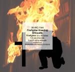 Firefighter Kneeling Silhouette Yard Art Woodworking Pattern - fee plans from WoodworkersWorkshop® Online Store - firefighting equipment,kneeling,firefighters,fireman,firemen,yard art,painting wood crafts,scrollsawing patterns,drawings,plywood,plywoodworking plans,woodworkers projects,workshop blueprints