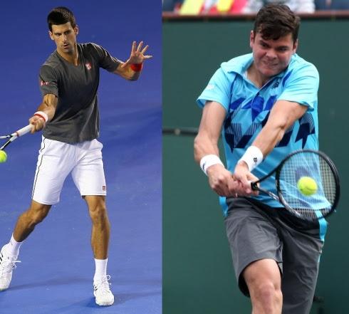 Novak Djokovic et Milos Raonic
