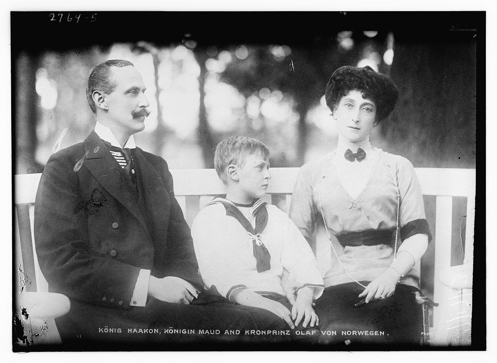 King Haakon, Queen Maud, and Crown Prince Olav of Norway