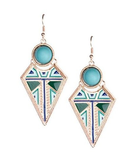 #teal #earrings #bling