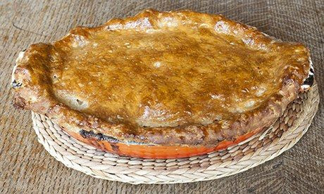 The steak and ale pie with suet crust at the Magdalen Arms