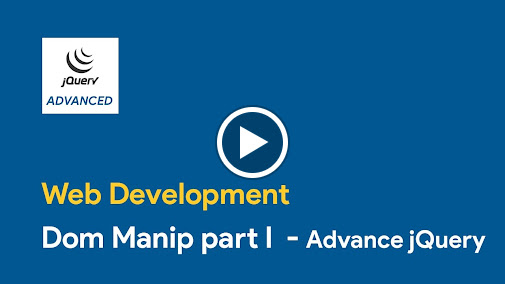 Learn how to manipulate DOM - Document Object Model using jQuery. You can buy our courses on SkillBakery.com http://skillbakery.com/course/advanced-jquery-ti...