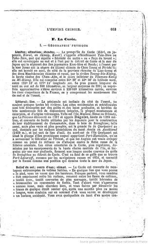 1893 L'Asie, choix de lectures de géographie... par M. L. Lanier_p_La Coree