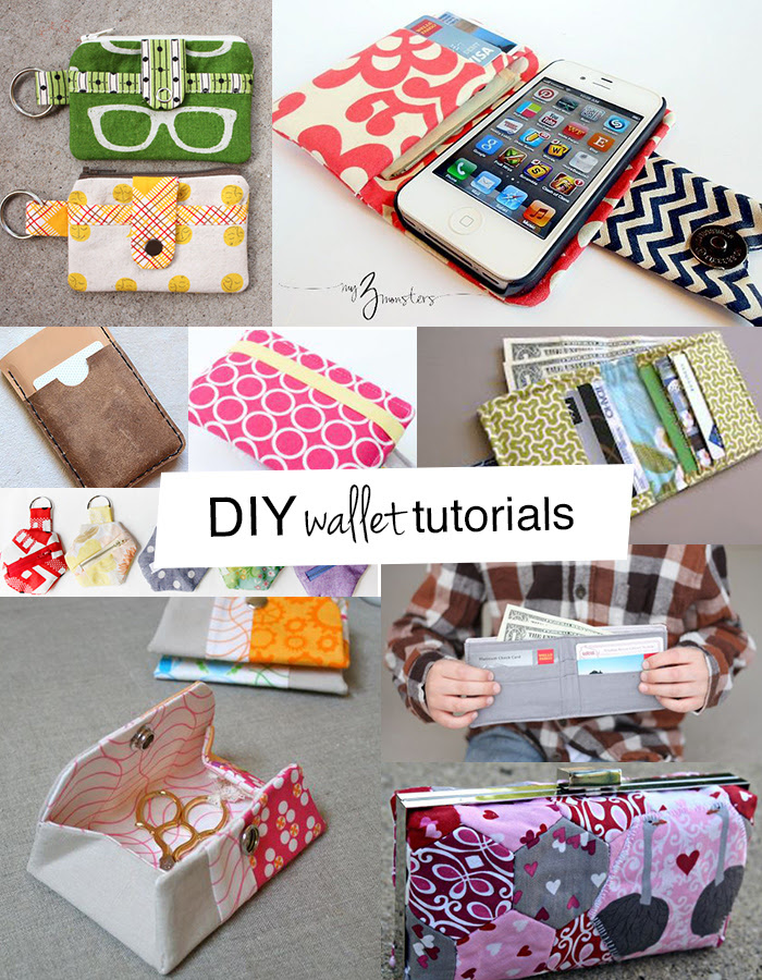 lots of DIY wallet tutorials you'll love!