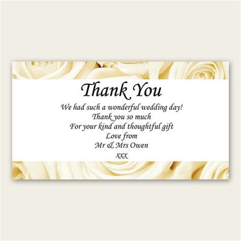wedding thank you wording   Bridal Shower Thank You