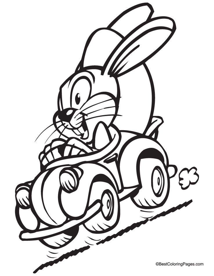 Tattoos Flower: happy easter bunny coloring pages