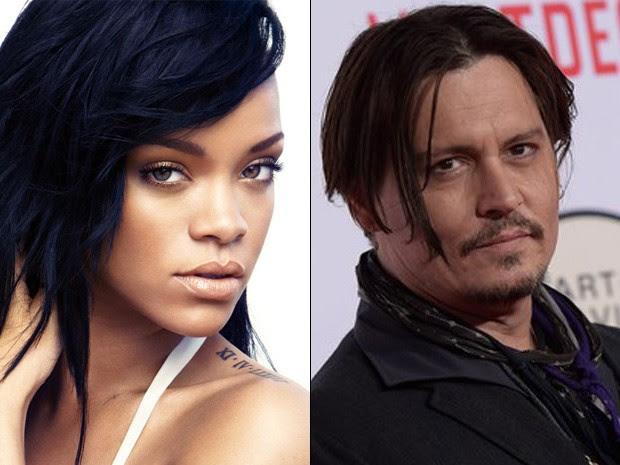 Rihanna e Johnny Depp (Foto: Reprodução)
