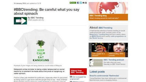 #BBCtrending: #Kangkung spinach blog blocked in Malaysia