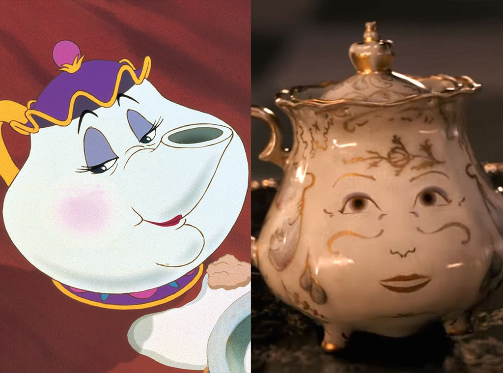 Mrs. Potts, Beauty and the Beast, Animated Disney vs. Live Action Disney