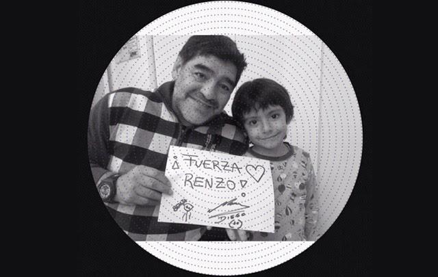 El mensaje de aliento de Diego para Renzo Antonelli
