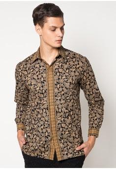 Baju Batik Pria Lengan Panjang Modis