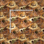 Abstract Nature Photo Autumn Leaves Camouflage Fabric