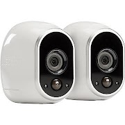 NETGEAR Arlo Smart Home Security Camera System with 2 HD, 100% Wire-Free, Indoor/Outdoor with Night (Black) Vision (VMS3230)