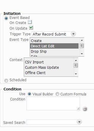 NetSuite Development Notes: Sample Workflow for Direct List Edit