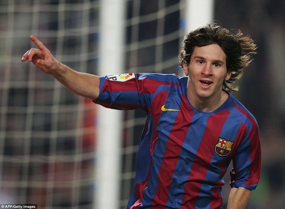 Messi began to establish himself as a first-team regular under  Frank Rijkaard in 2005-06  but he was curtailed by injury