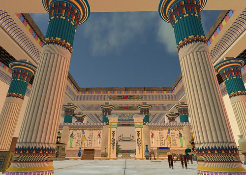 Flickr photo of Aura Lily's Second Life rendition of the architecture of ancient Egypt