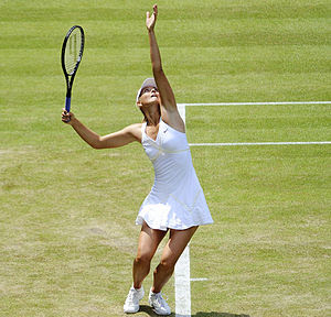 Maria Sharapova against Gisela Dulko in the 20...