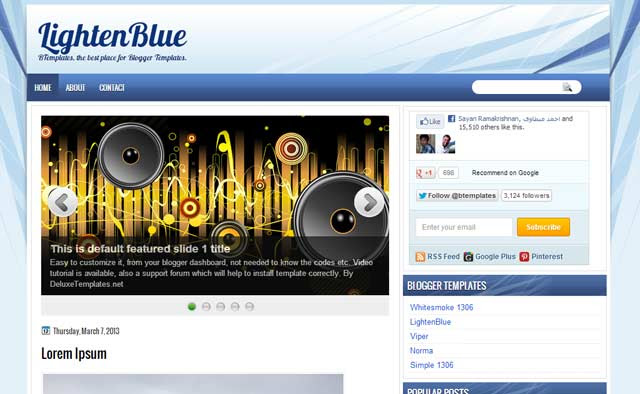 lighten blue 25+ Best Free Magazine Blogger Templates for 2013 Download