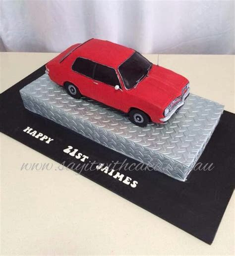 My sons torana cake I got made   Muscle and vintage cars