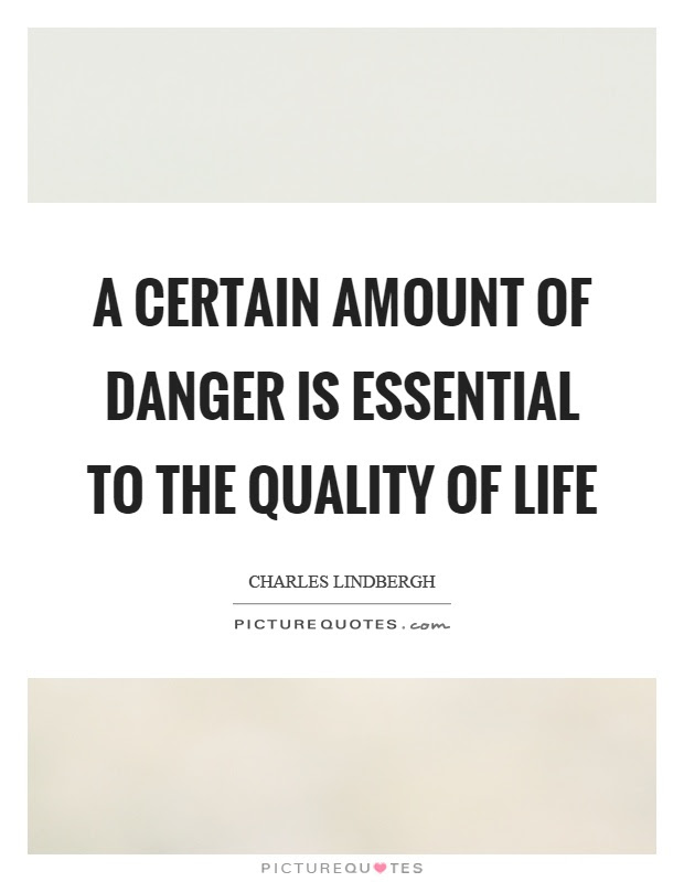 A Certain Amount Of Danger Is Essential To The Quality Of Life