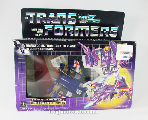 Transformers Blitzwing G1 - caja