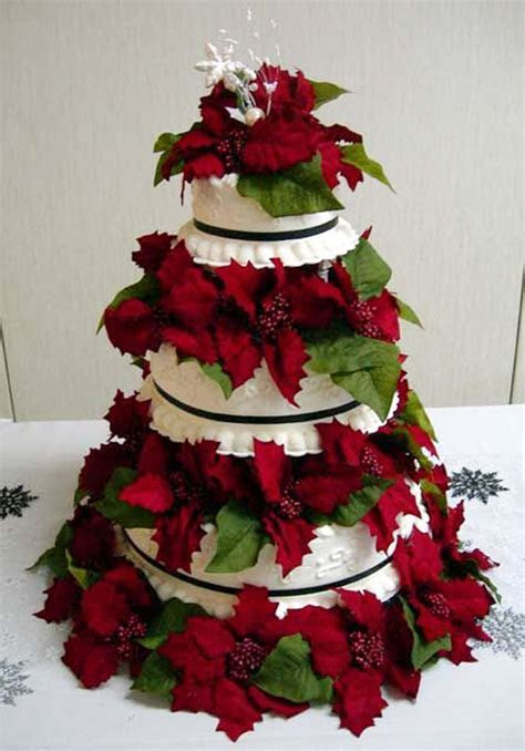 Christmas Wedding Cake Topper Ideas Wedding Cake   Cake