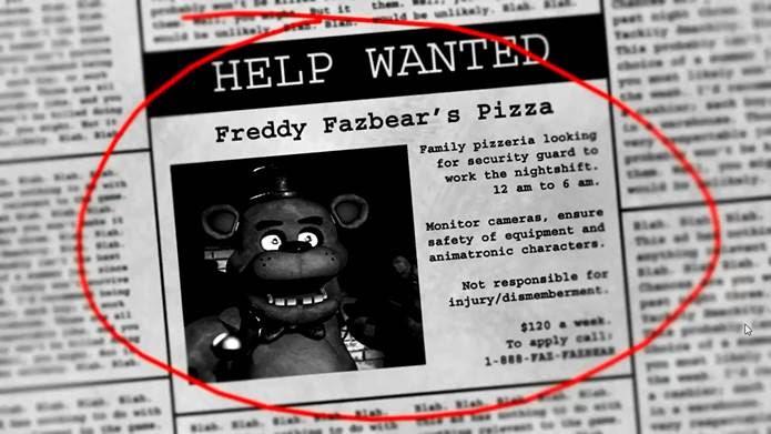 Conheça a verdadeira história do tenebroso jogo Five Nights at Freddys (Foto: Reprodução)